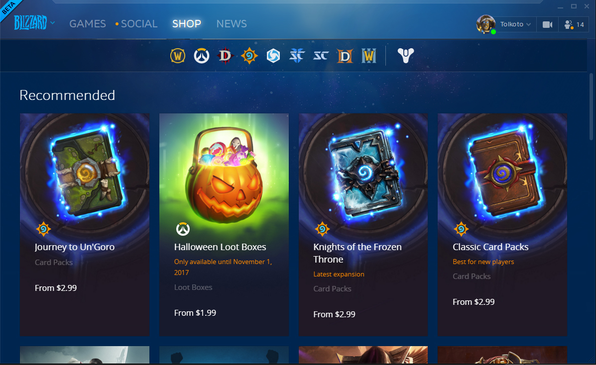 Blizzard is going to make it easier to gift your friends things ...