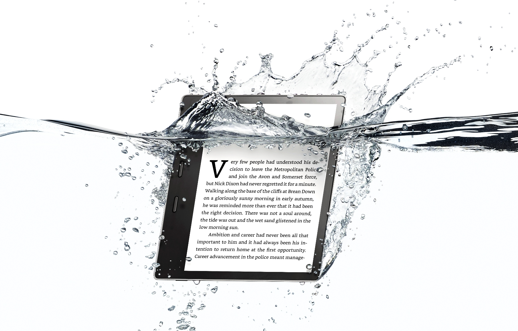 Amazon's new Kindle Oasis is finally waterproof