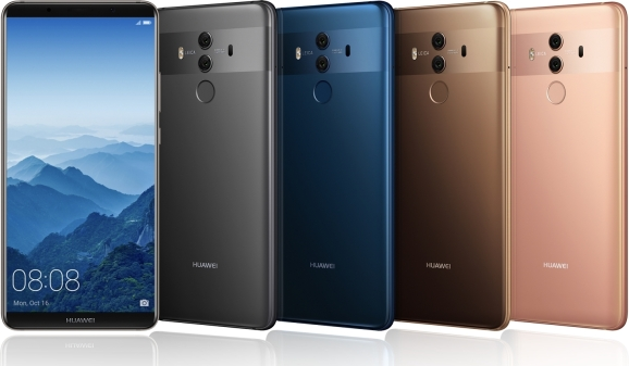Image result for Huawei challenges Apple and Samsung with new Mate 10 smartphones