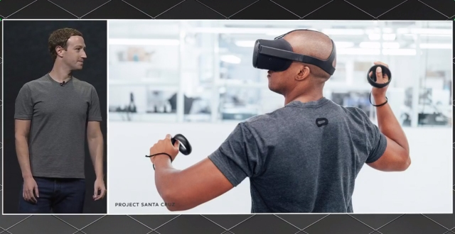 photo image Project Santa Cruz: Hands-on with Facebook's next-generation wireless VR headset
