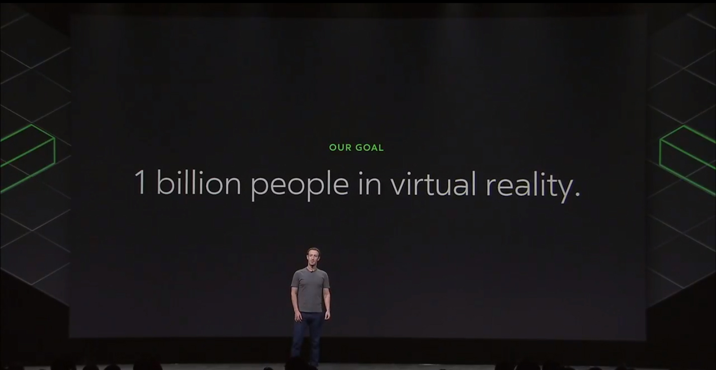 Mark Zuckerberg: We want to get 1 billion people in virtual reality