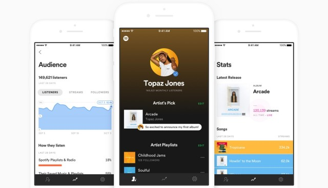 photo image Spotify launches standalone mobile app that gives artists streaming data and more controls