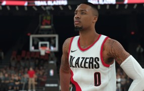 The well-inked Damian Lillard in NBA2K.