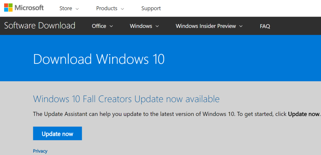 How to force Windows 10 to download the Fall Creators Update