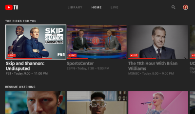 Google launches YouTube TV app for your big screen, starting with