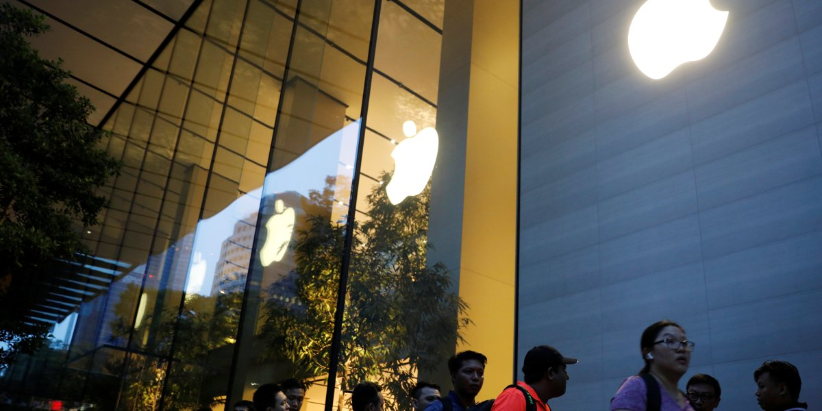 Apple Store in Singapore.