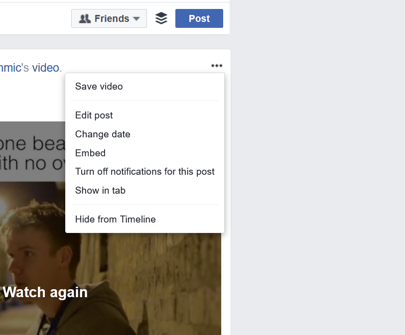 Facebook removes 'delete post' option from the desktop web version