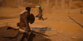 For Assassin's Creed: Origins, you're holding the Xbox One gamepad the wrong way