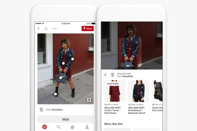 photo image Pinterest launches Lens Your Look fashion search feature and visual scan codes