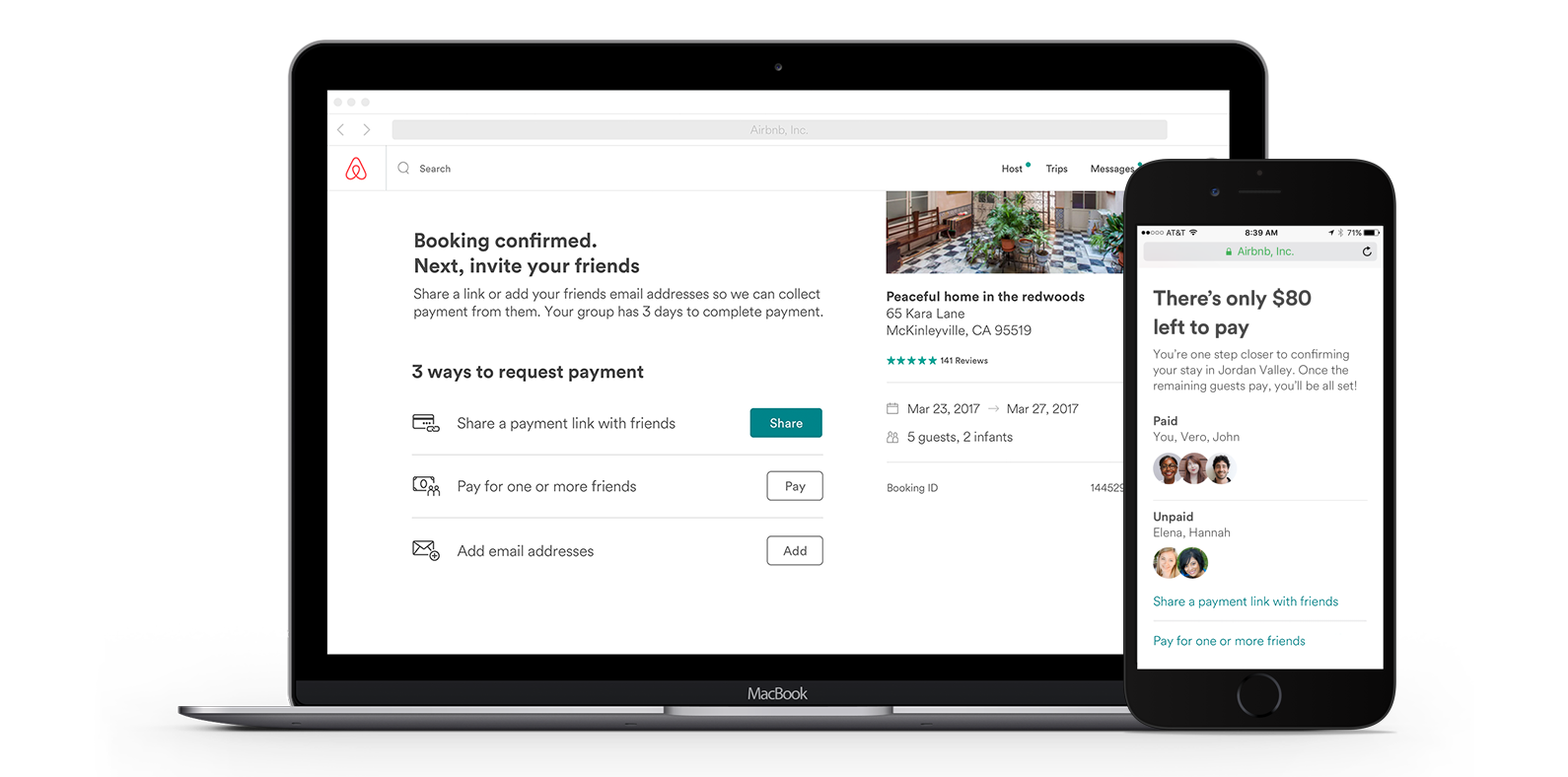Airbnb now lets groups of guests split the cost of their