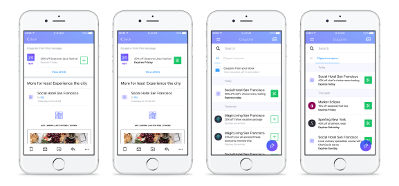 Yahoo mail adds new coupon and travel tools venturebeat yahoo mail adds new coupon and travel tools stopboris Images
