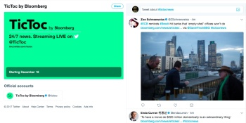 Bloomberg's TicToc 24/7 news channel launches as Twitter doubles down on live video
