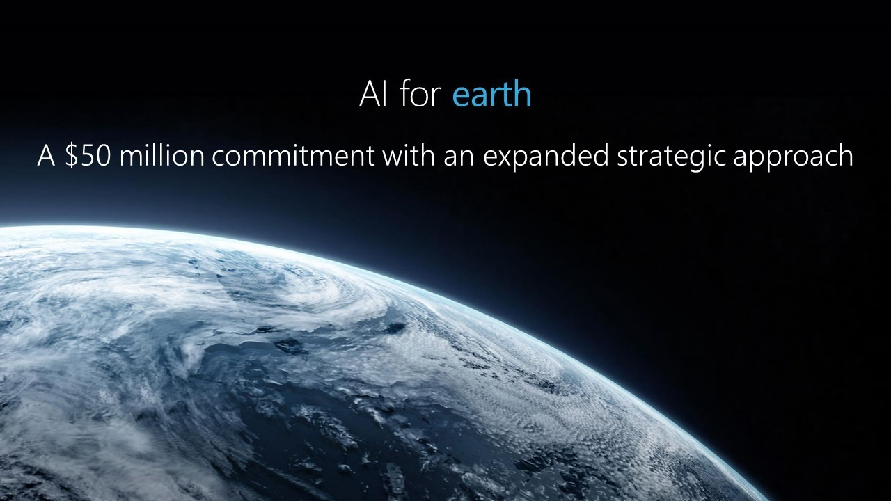 Microsoft expands 'AI for Earth' program with an additional US$50 million