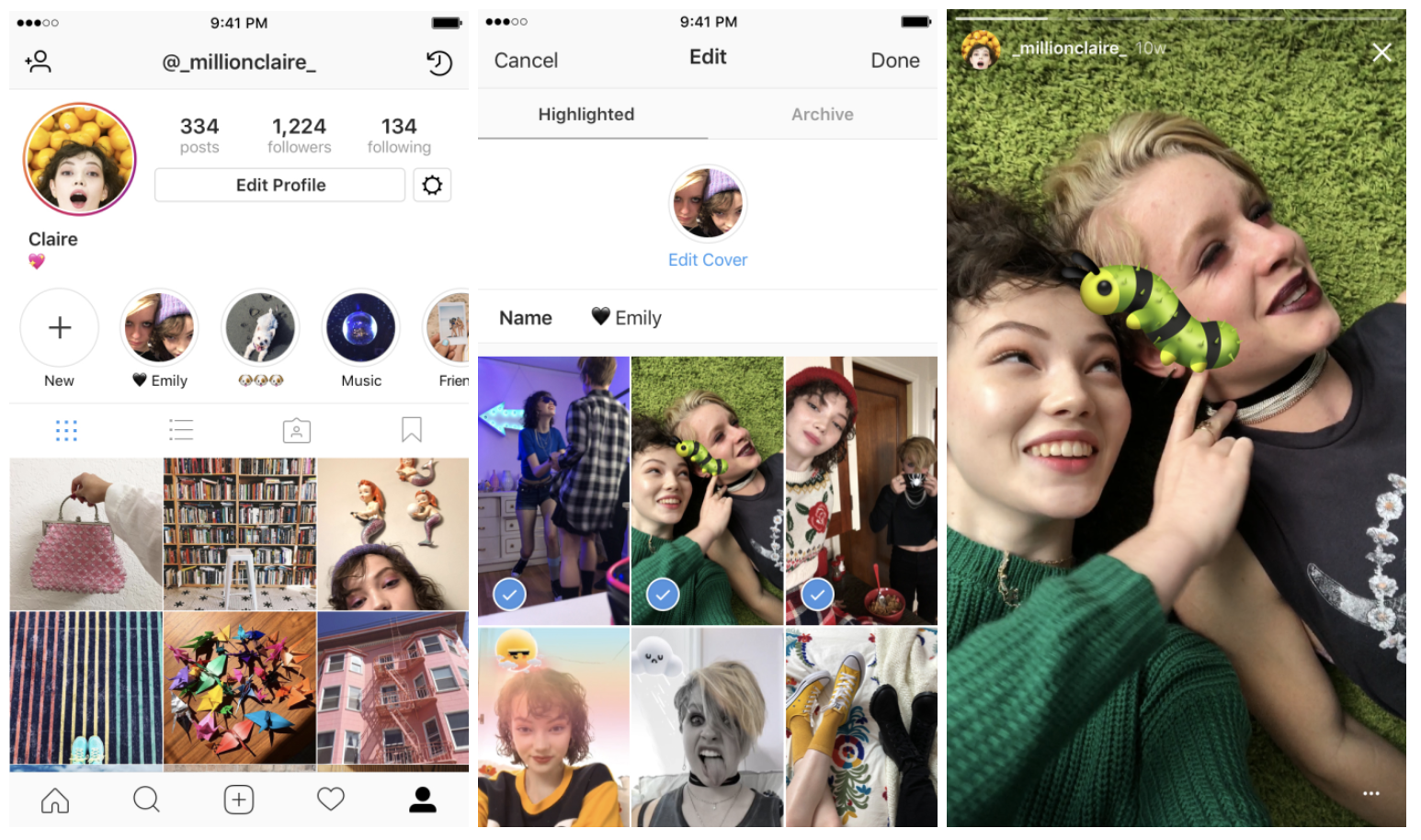 Instagram's Story Highlights feature lets you save Stories forever