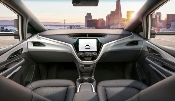 photo image GM unveils autonomous vehicle with no steering wheel or pedals, plans for 2019 launch