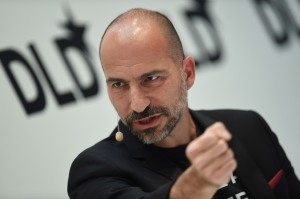 Uber CEO Dara Khosrowshahi speaking at DLD Conference in Munich.