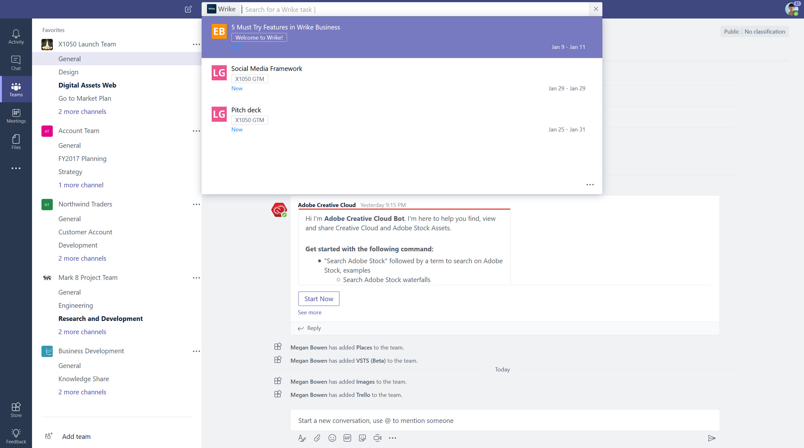 Microsoft Teams gets tighter app integration, revamped command box, and slash commands