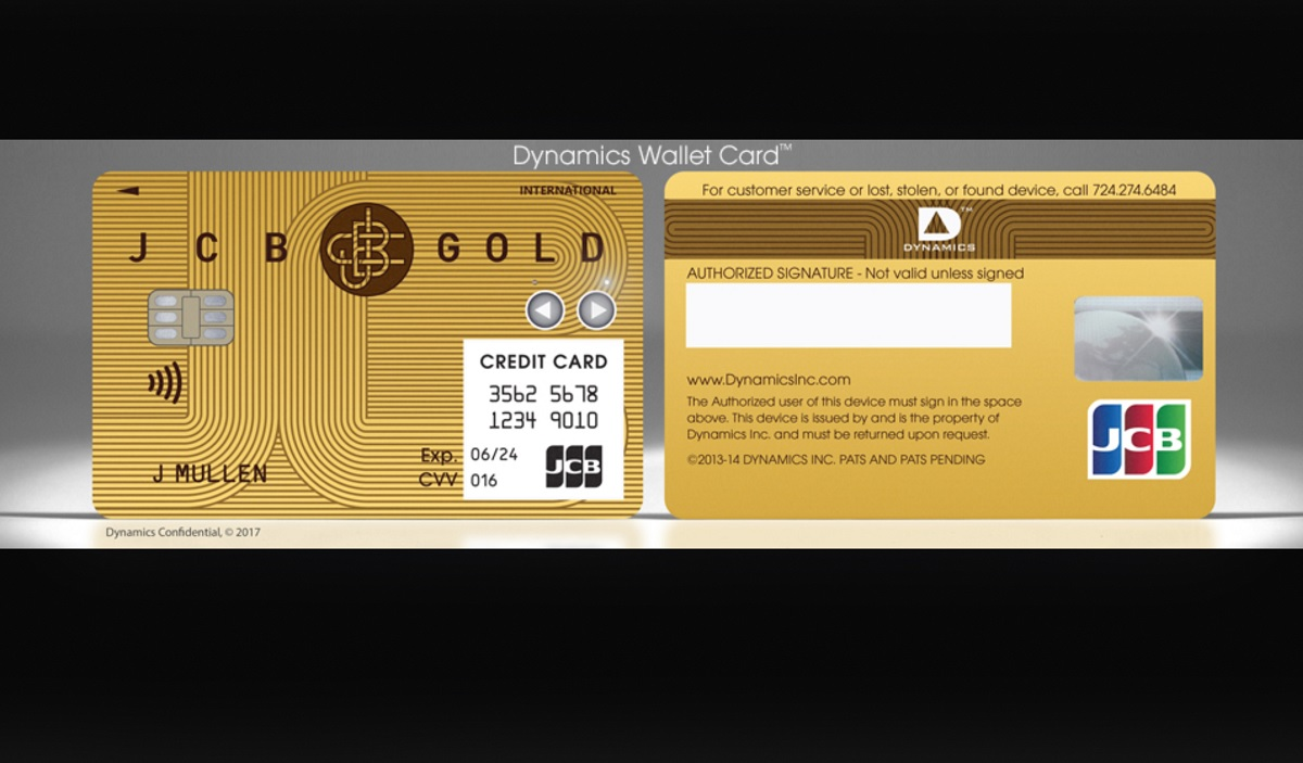 Dynamics Unveils the Wallet Card, First 'Connected Card' at CES