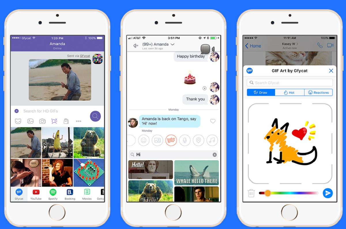 Gfycat integrates user-generated GIFs on Tango, Messenger