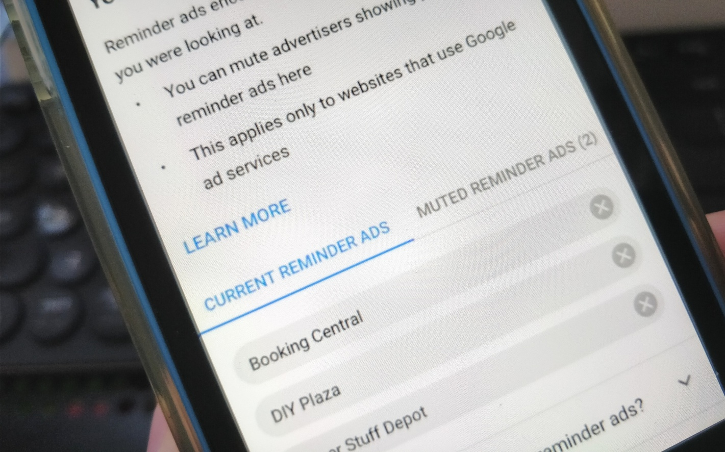 Google Lets Users Mute Repetitive Remarketing Ads