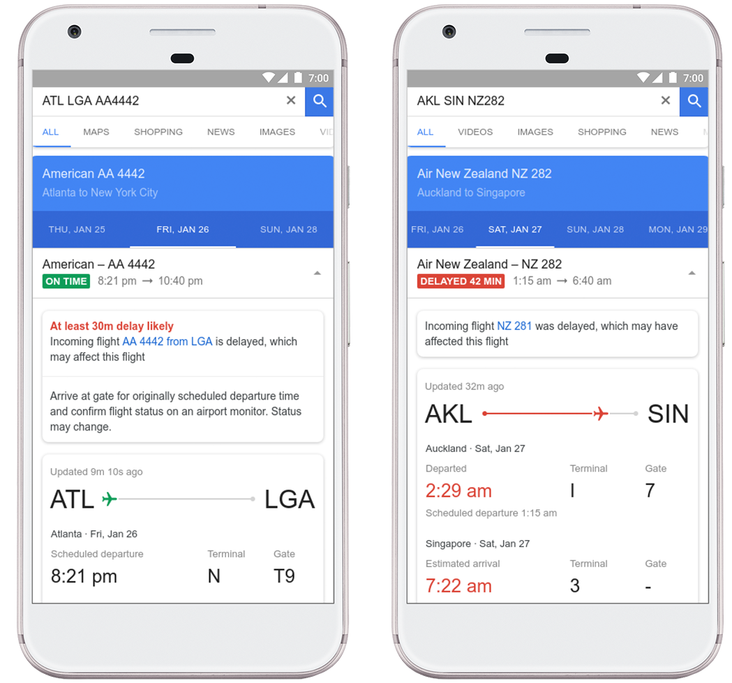 Google can now predict when your flight will probably be delayed