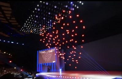 Intel Flies 100 Shooting Star Mini Drones For Light Show