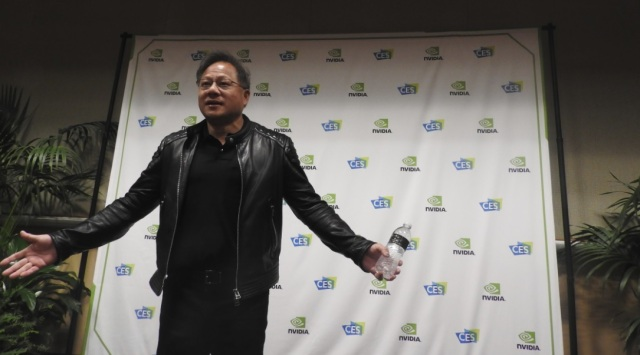 photo image Nvidia's Jensen Huang goes off script with CES 2018 Q&A