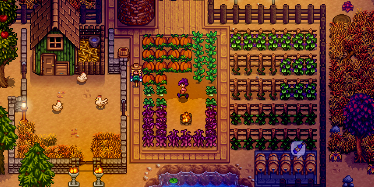 Stardew Valley enables you to play with friends.