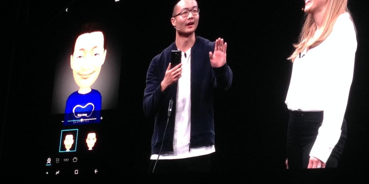 Samsung's new AR Emoji feature.