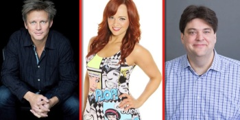GamesBeat Summit speakers — Second Life creator Philip Rosedale, video host Andrea Rene, and FoxNext's game chief