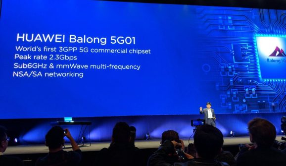Huawei discusses its first 5G modem for smartphones.