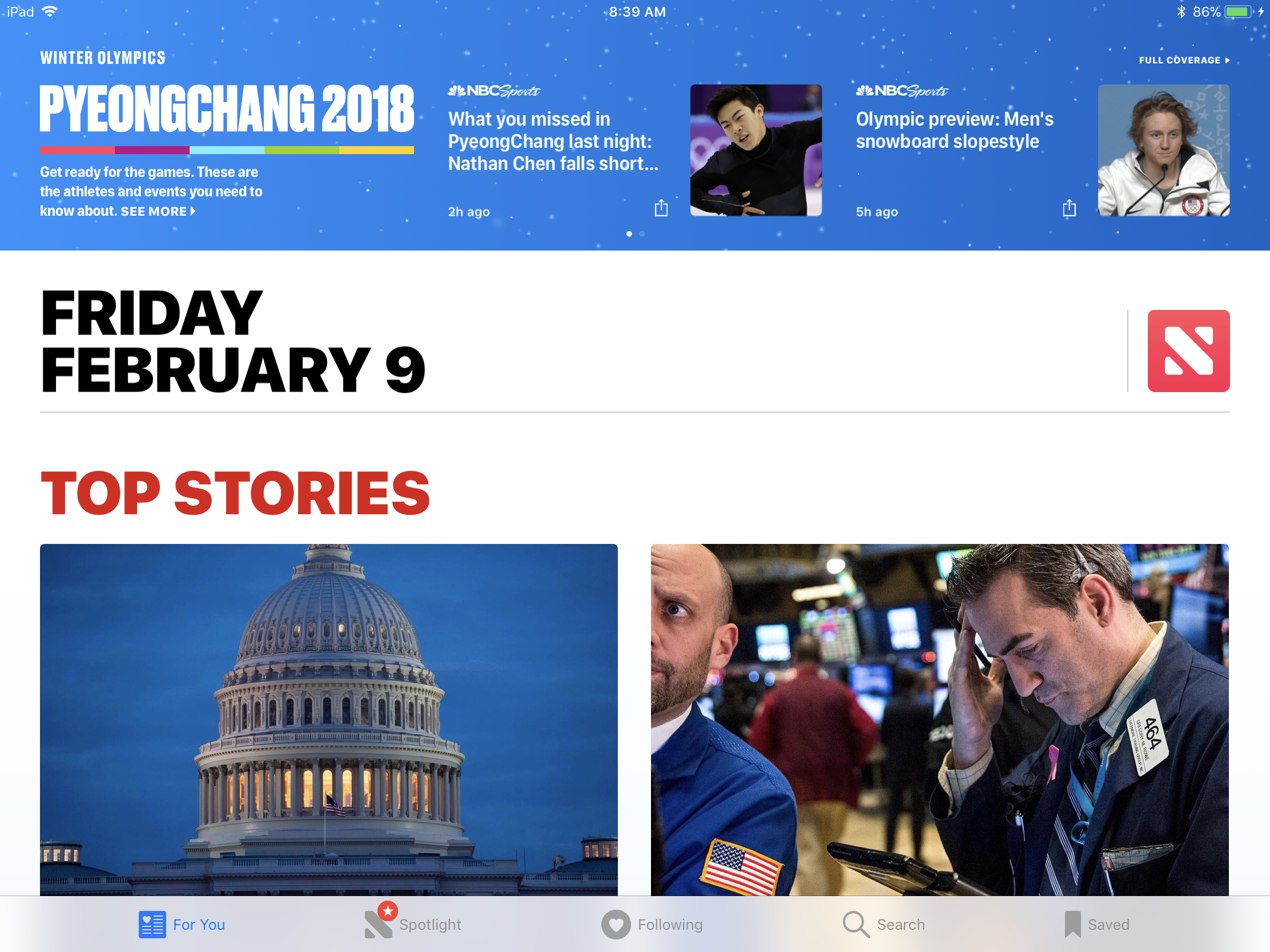 Apple News Launches Coverage of 2018 Winter Olympics