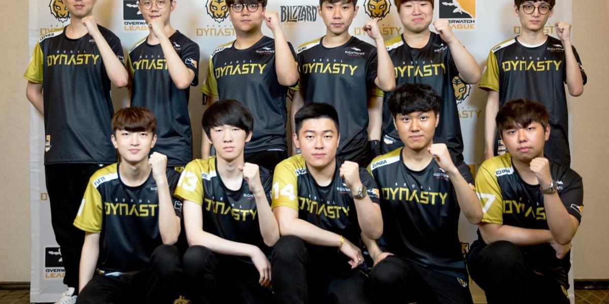 KSV's Seoul Dynasty Overwatch team. KSV