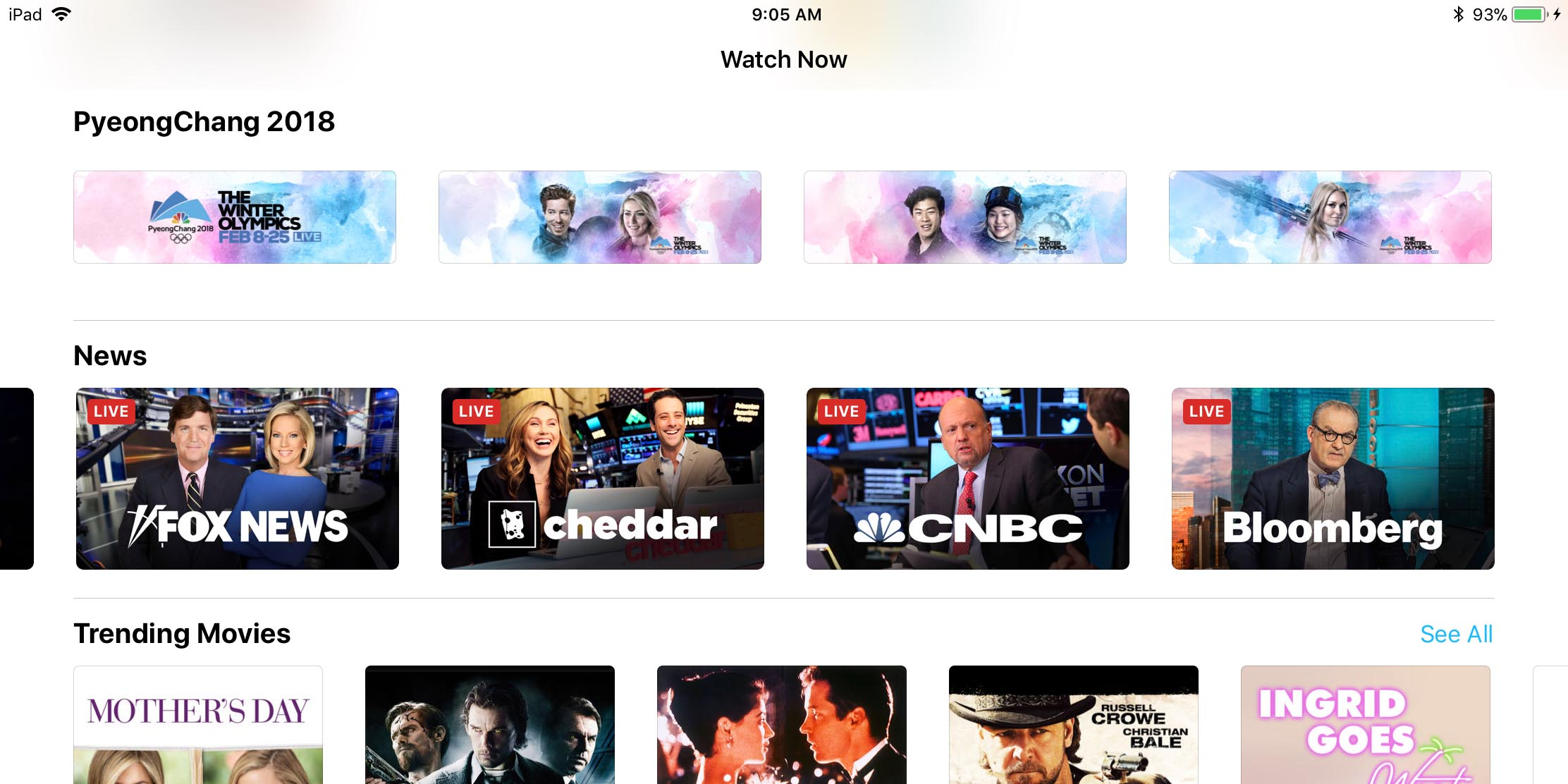 You Can Now Stream Live News from Apple's TV App