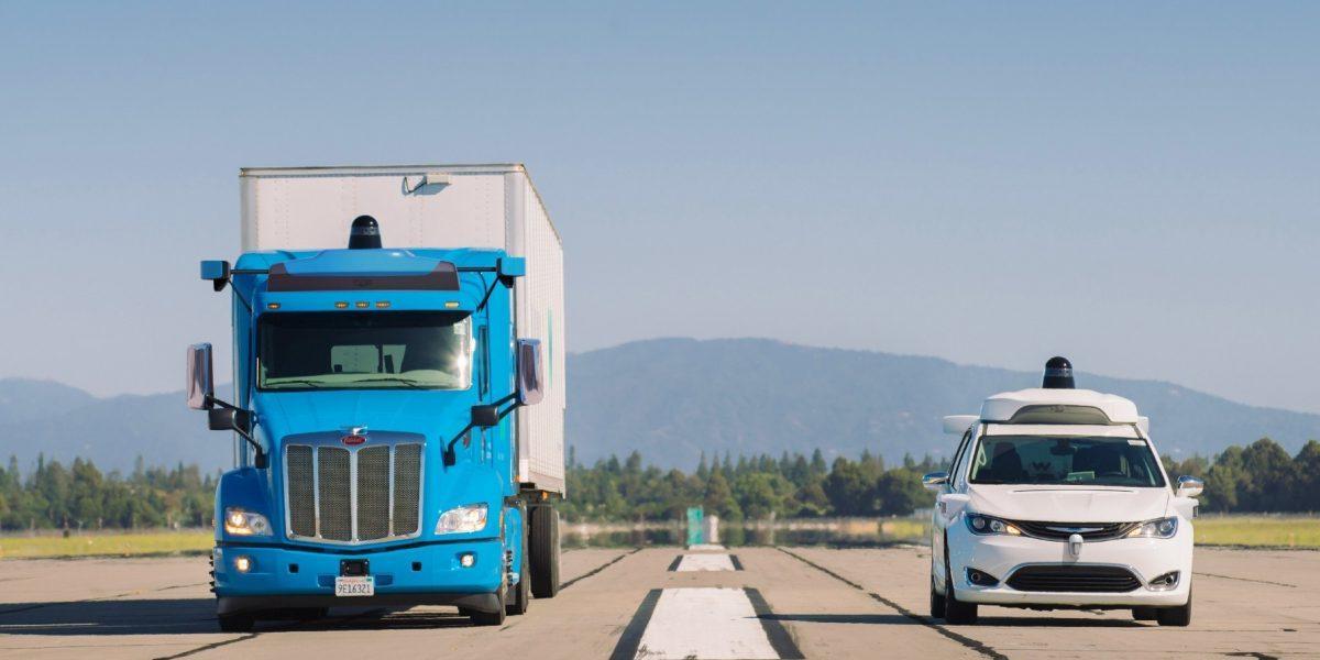 Znalezione obrazy dla zapytania waymo trucks