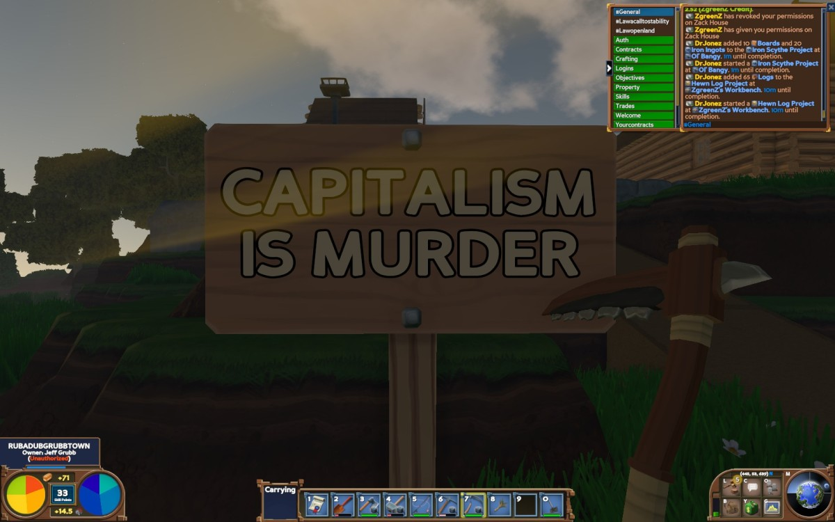 Eco's player-driven economy let me create a financial meltdown