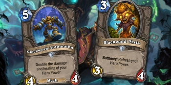 Hearthstone: The Witchwood card reveal — Blackwald Pixie and Clockwork Automaton