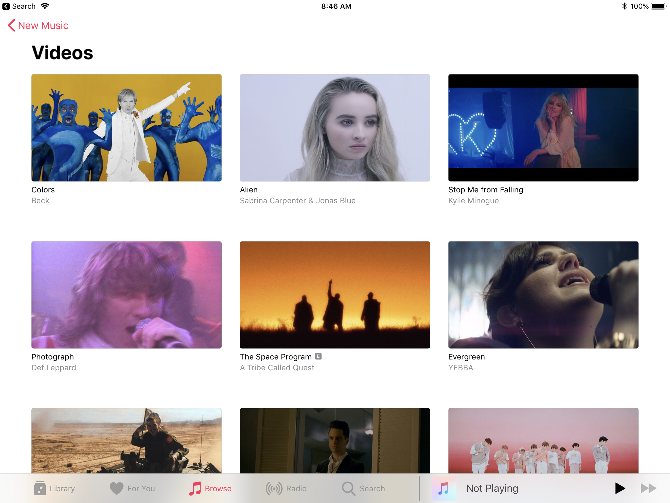Apple Music App Upgrade Puts Video In Spotlite