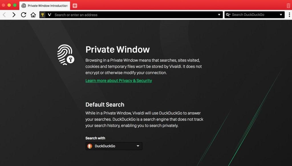 Vivaldi browser now uses DuckDuckGo as default search engine