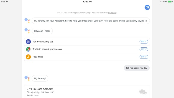 Google Assistant adds iPad support, joins Alexa and Cortana as Siri rivals