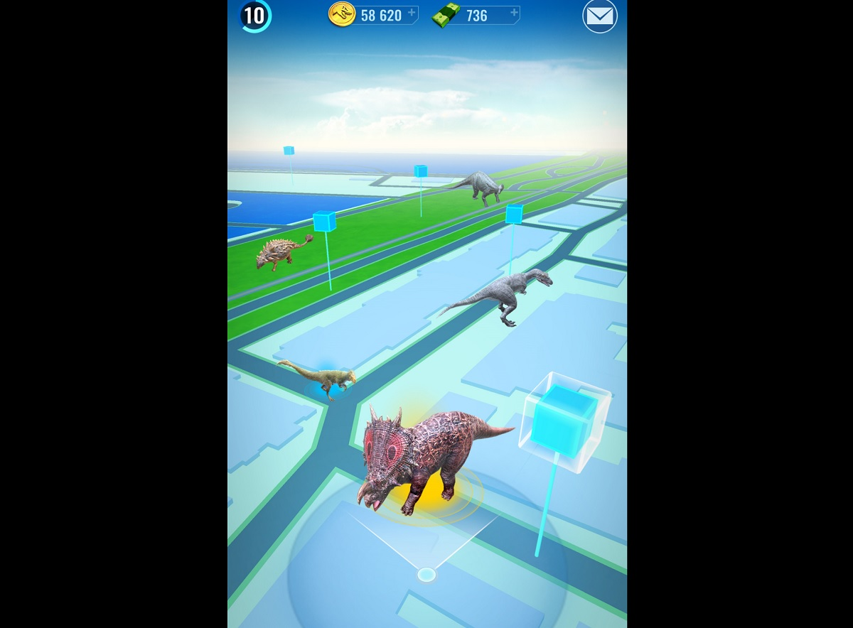 Jurassic World Alive is Pokémon Go but with dinosaurs