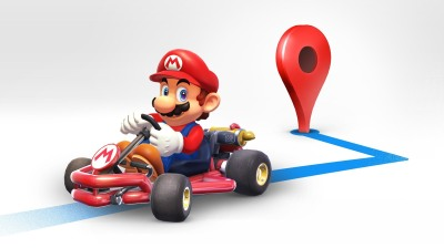 google maps marks mario day by adding a super mario kart to your