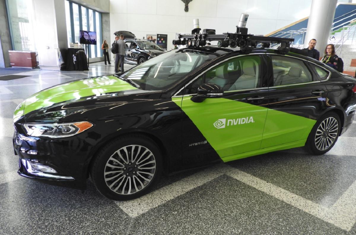 nvidia 39 s drive constellation lets autonomous cars drive billions of miles in vr venturebeat. Black Bedroom Furniture Sets. Home Design Ideas
