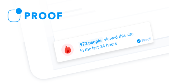 Proof uses real-time stats to increase website conversion rate