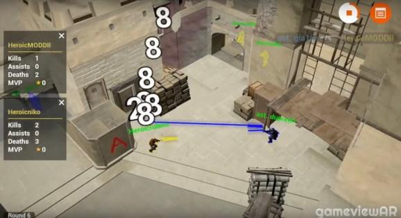 GameviewAR turns Counter-Strike shootouts into AR esports replays