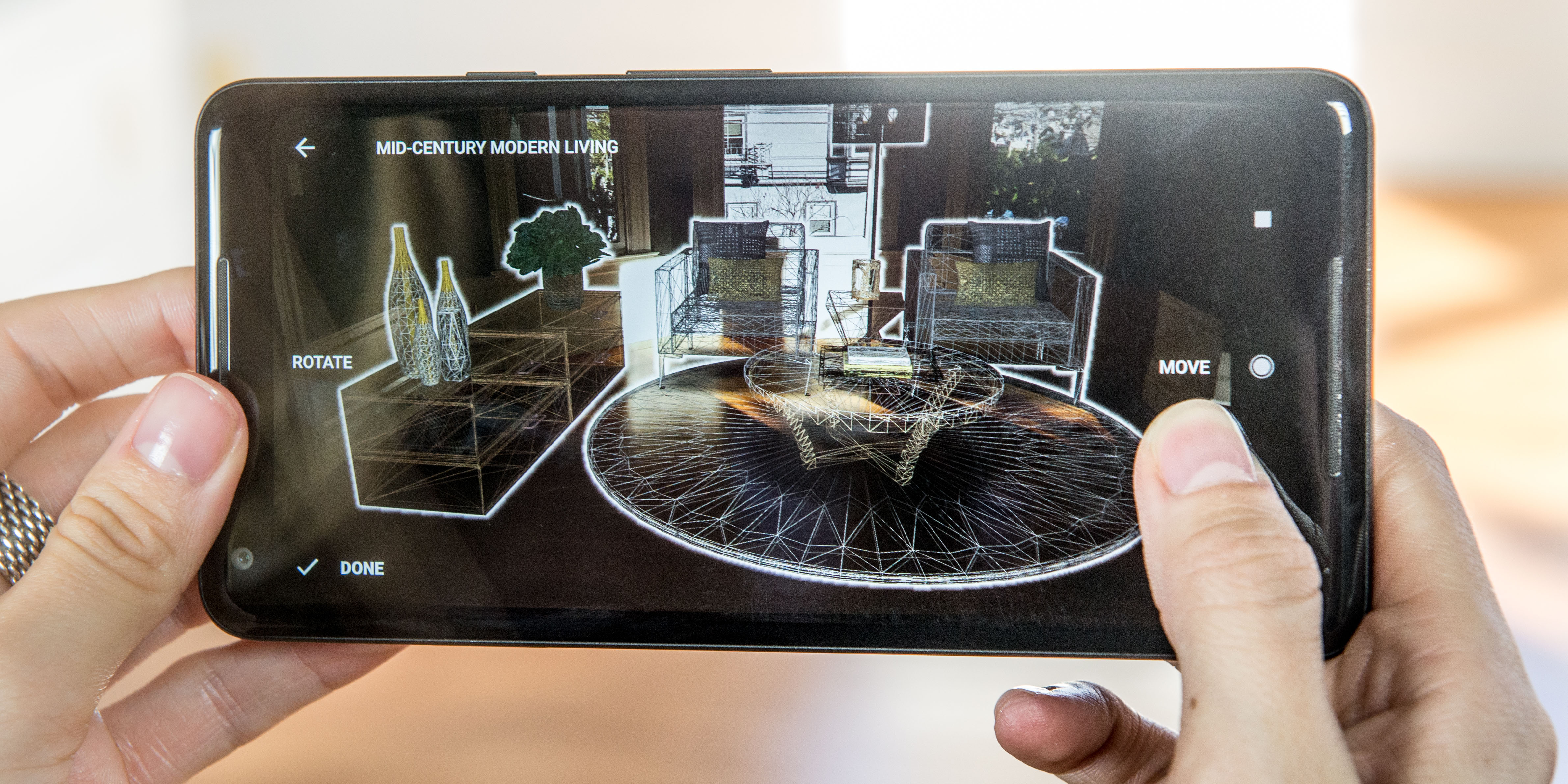 Sotheby's debuts augmented reality home staging app using Google ARCore