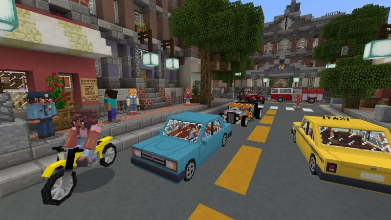 """""""Cruise through the big city in City Life! Chase down a bandit in your police car, save the day as a firefighter or take your dog for a walk."""""""