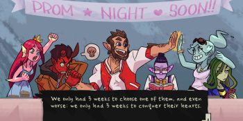 Monster Prom is a quirky competitive dating sim with party games