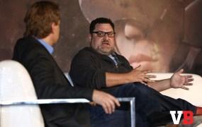 Chris Heatherly speaking at GamesBeat Summit.
