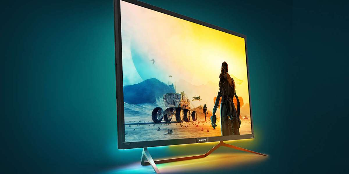 The Philips Momentum 4K also has ambient bias lighting.